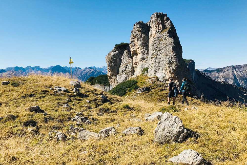 Im Sommer beim Steinernen Törl im Rofan wandern - zwischen Dalfazalm und Kotalm