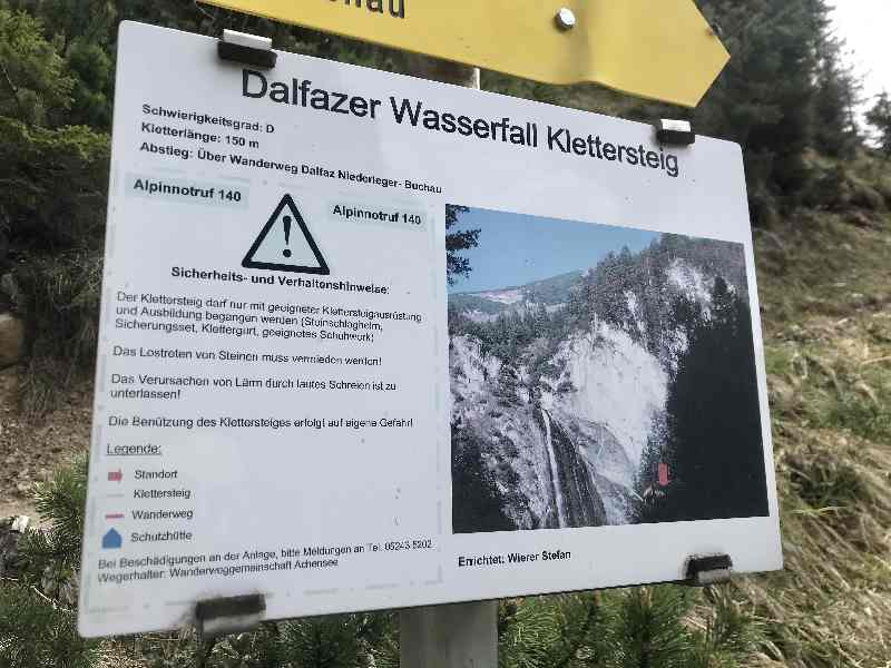 Dalfazer Wasserfall Klettersteig