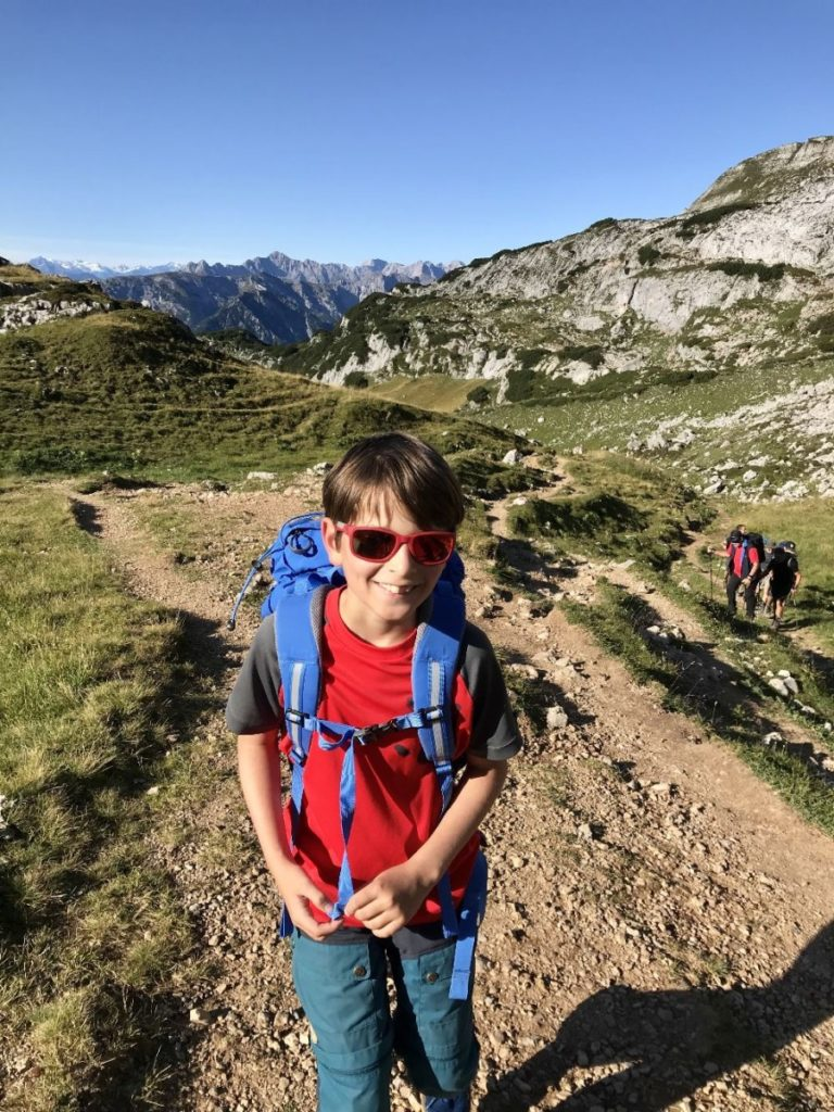 Rofan wandern mit Kindern - auf dem Weg zur Rofanspitze