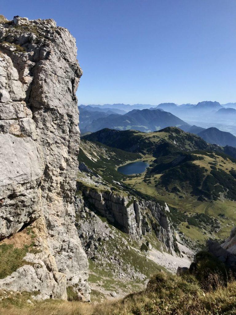 Bekanntes Fotomotiv im Rofan: Der Zireiner See