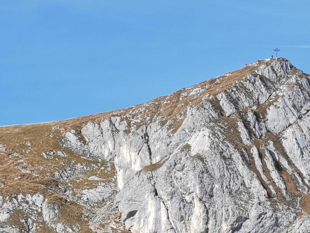 Der Hochiss - rechts im Bild das Gipfelkreuz