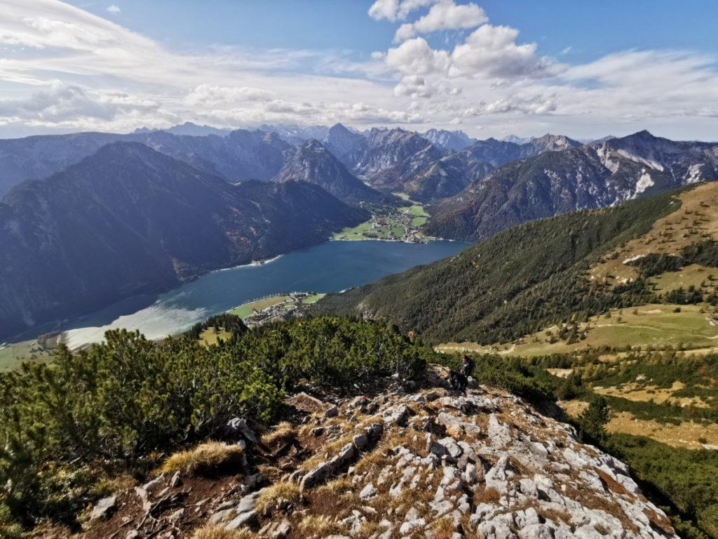 Hochiss Achensee: Der Blick auf meiner Hochiss Wanderung Richtung Achensee und Karwendel