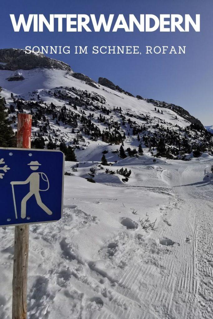 Rofan Winterwandern Tirol - merken mit diesem Pin auf Pinterest