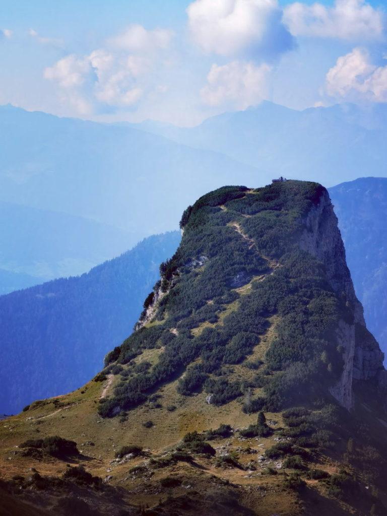 Das ist der letzte Anstieg auf den Gschöllkopf Gipfel