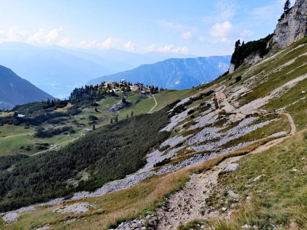 Das ist der Wanderweg von der Bergstation Richtung Gschöllkopf